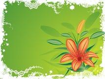 背景弄脏花卉grunge向量 库存图片