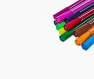 背景彩色插图查出的笔设置了向量空白 库存照片