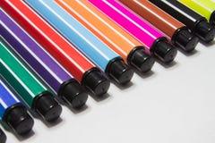 背景彩色插图查出的笔设置了向量空白 图库摄影