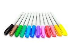 背景彩色插图查出的笔设置了向量空白 库存图片