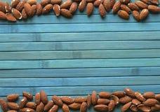 背景影像关闭的健康食品杏仁坚果 纹理 库存图片