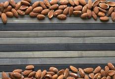 背景影像关闭的健康食品杏仁坚果 纹理 免版税库存图片