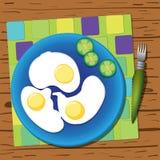 背景怂恿煎蛋卷加扰的白色 免版税库存图片