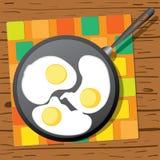 背景怂恿煎蛋卷加扰的白色 图库摄影