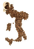 背景意大利人咖啡 免版税库存照片