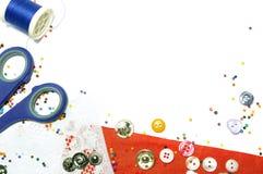 背景成串珠状按钮 免版税库存图片