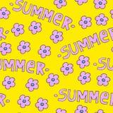 背景或包裹的桃红色夏天样式 与花的季节概念 库存例证
