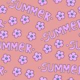 背景或包裹的桃红色夏天样式 与花的季节概念 皇族释放例证