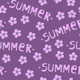 背景或包裹的桃红色夏天样式 向量例证