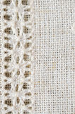 背景或盖子的刺绣样式 葡萄酒手织的亚麻制纺织品的纹理 hemstitch 库存照片
