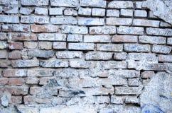 背景或纹理的白色砖墙 免版税库存图片