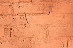 背景或纹理的红砖墙壁 免版税库存照片