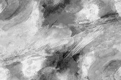 背景或纹理的黑白色水彩背景 免版税库存图片