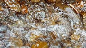 背景或纹理 小山瀑布的慢动作 240fps 山小河在a的石头跌倒 股票视频