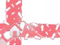 背景房子图标 免版税库存照片