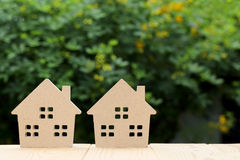 背景房子查出的玩具空白木 免版税库存图片