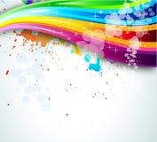 背景手册传单彩虹光谱