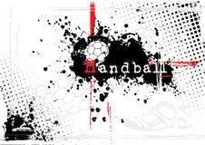 背景手球 免版税图库摄影