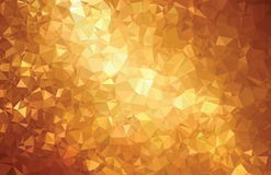 背景抽象三角几何样式金线 免版税库存照片