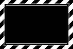 背景拷贝空间的,横幅框架时兴的黑白条纹框架模板镶边了遮篷,条纹框架 皇族释放例证