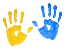 背景指纹查出的油漆 免版税库存照片