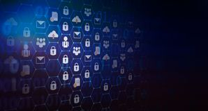 背景按了全球网络安全世界地图钥匙锁保障系统摘要数字技术世界 库存照片