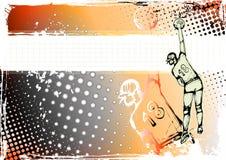 背景排球 免版税图库摄影