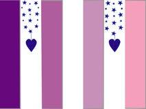 背景排行紫色 免版税库存图片