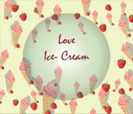 背景接近的奶油色冰图象 免版税图库摄影