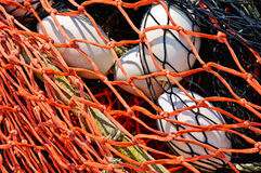 背景接近的捕鱼浮动净  免版税图库摄影