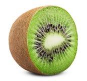背景接近的果子查出在白色的猕猴桃 免版税库存图片