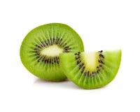 背景接近的果子查出在白色的猕猴桃 免版税库存照片