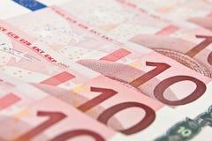背景接近的欧元十  免版税库存图片