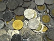 背景接近的硬币泰国 库存照片