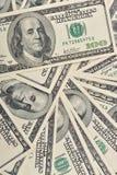 背景接近的美元 免版税库存图片