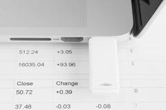 背景推进闪光例证查出的usb白色 免版税库存图片