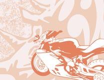背景摩托车 库存照片