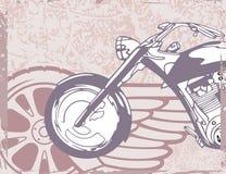 背景摩托车 免版税库存照片