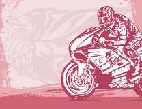 背景摩托车 免版税图库摄影