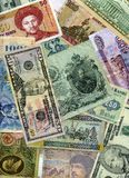 背景收集货币 图库摄影