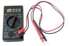 背景数字式例证查出的多用电表向量白色 图库摄影