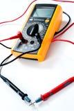 背景数字式例证查出的多用电表向量白色 免版税库存照片