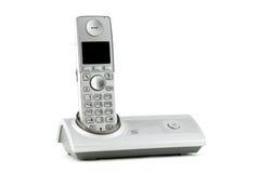 背景数字式查出的电话voip白色 库存照片