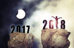 背景新年2018年 免版税库存照片