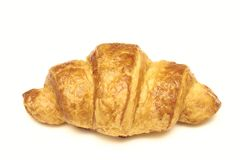 背景新月形面包新白色 新鲜的面包店 伟大的早餐 库存图片
