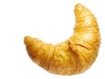 背景新月形面包金黄查出的白色 免版税库存照片