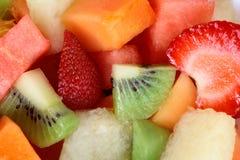 背景新鲜水果沙拉 免版税库存图片