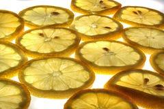 背景新鲜的柠檬 免版税库存图片
