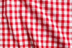 背景方格的红色白色 免版税库存图片