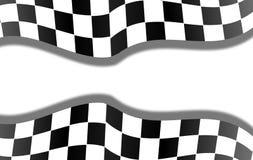 背景方格的赛跑的旗子 库存照片